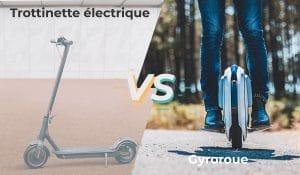 Trottinette électrique vs gyroroue