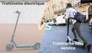 Trottinette électrique vs libre service