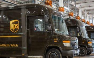 Camion livraison hybride UPS