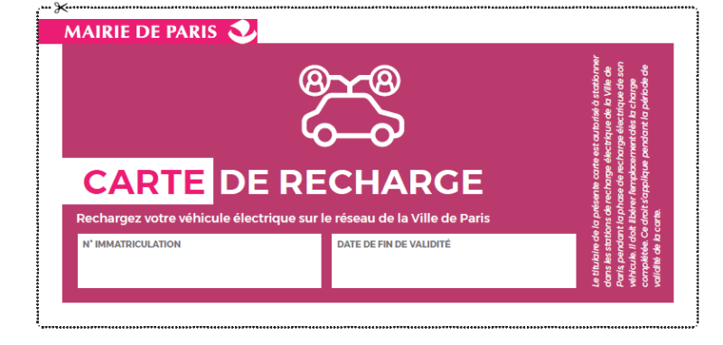 carte de recharge véhicule partagés paris